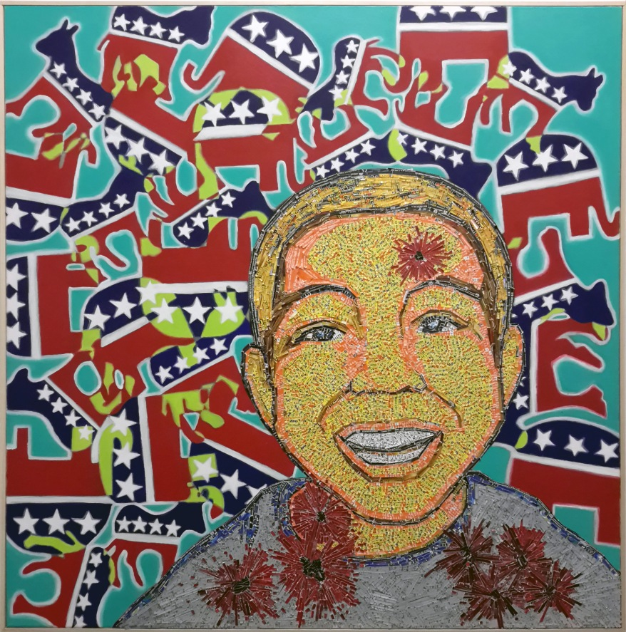 Sandy_Hook_Shooting_And_The_Do_Nothing_Congress_acrylic_and+lottery_tkts_canvas_2013