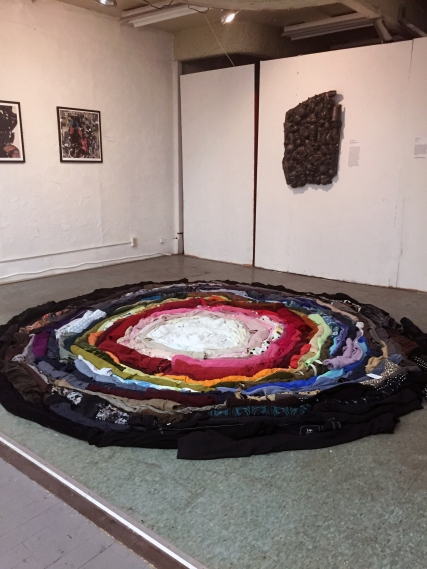 """""""Body Mat"""" Melanie Carr at Gallery Aferro (NWII Photo/Christine Romanell)"""
